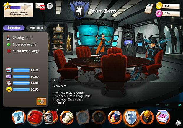 Team Zero im Browsergame